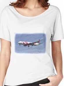 Delta Airlines Boeing 767 Art Women's Relaxed Fit T-Shirt