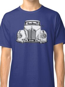 White Mercedes Benz 300 Luxury Car Drawing Classic T-Shirt