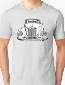 White Mercedes Benz 300 Luxury Car Drawing T-Shirt