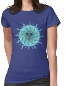 Inca Sun Dots Painting Womens Fitted T-Shirt
