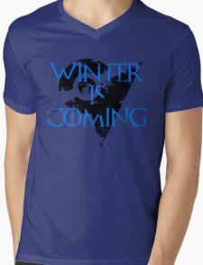 Team Mystic Winter is Coming Go - Black Mens V-Neck T-Shirt