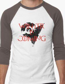 Team Valor Winter is Coming - Black Men's Baseball ¾ T-Shirt