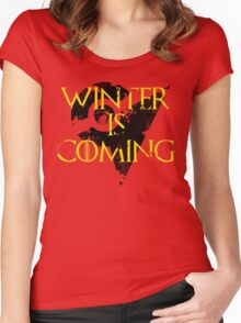 Team Instinct Winter is Coming - Black Women's Fitted Scoop T-Shirt