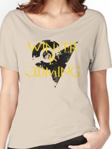 Team Instinct Winter is Coming - Black Women's Relaxed Fit T-Shirt