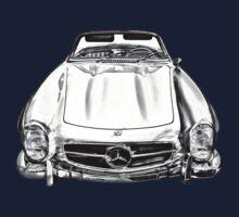 Mercedes Benz 300 SL Convertible illustration Kids Clothes