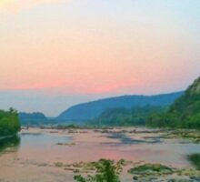 Potomac Sunset at Harpers Ferry Sticker
