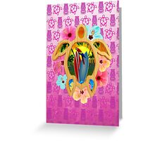 Honu Surfboard Sunset Greeting Card