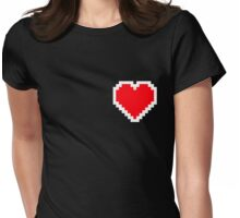 Pixel Heart Womens Fitted T-Shirt