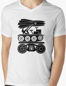WAR BY RAIL Mens V-Neck T-Shirt