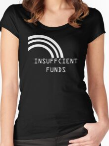 Insufficient Funds Rainbow Women's Fitted Scoop T-Shirt