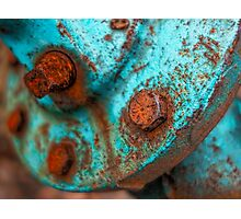 Rusty And Blue photography Photographic Print