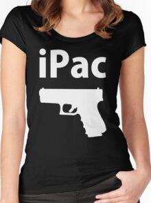 Ipac Funny Cheap Gun Women's Fitted Scoop T-Shirt