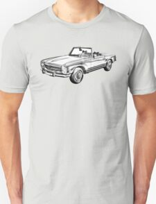 Mercedes Benz 280 SL Convertible Illustration T-Shirt