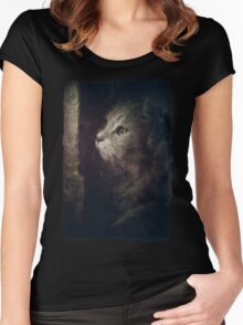 Hunting in the dark forest Women's Fitted Scoop T-Shirt