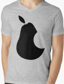 Ipear Retro Apple Bite Mens V-Neck T-Shirt
