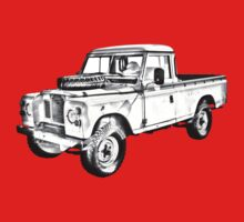 1971 Land Rover Pick up Truck Drawing T-Shirt