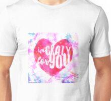 Lyric Art - Madonna - Crazy For You Unisex T-Shirt