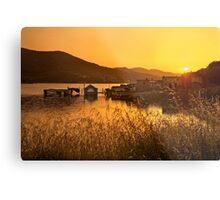 Sunset of the sunken village - Crete Metal Print