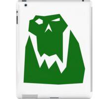 Orc head (Green) iPad Case/Skin