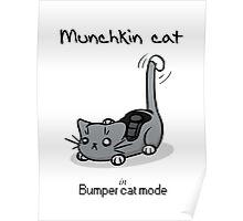 Munchkin cat - Bumper cat mode - black font Poster