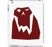 Orc head (Red) iPad Case/Skin