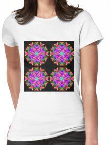 Petal Mandala Womens Fitted T-Shirt