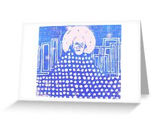 Blue world Greeting Card