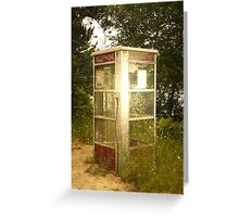 Telephone Booth 2 Greeting Card