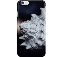 Marine sea shell dark blue background iPhone Case/Skin