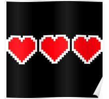 Pixel Hearts Poster