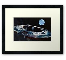 creation of an artificial planet Framed Print