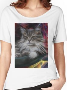 Bowl Of More Fur (Square Version) - By John Robert Beck Women's Relaxed Fit T-Shirt