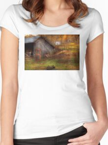 Country - Morristown, NJ - Rural refinement Women's Fitted Scoop T-Shirt