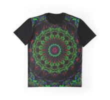 Red And Green Christmas Wreath Mandala Graphic T-Shirt