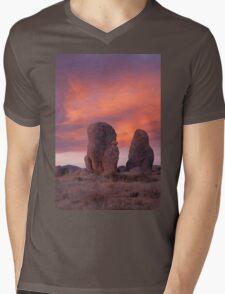 City of Rocks at Sunset Mens V-Neck T-Shirt