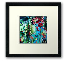 In Amongst The Blooms Framed Print