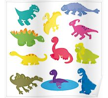 collection of dinosaurs Poster