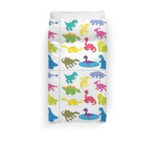 collection of dinosaurs Duvet Cover