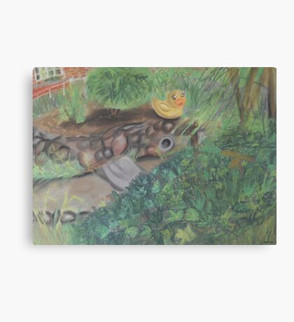 Landscape with Rubber Ducky Canvas Print