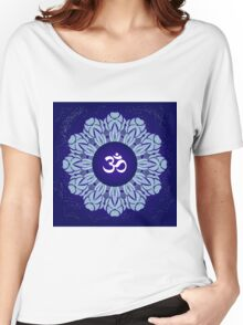 Symbol Om Space Mandala Women's Relaxed Fit T-Shirt