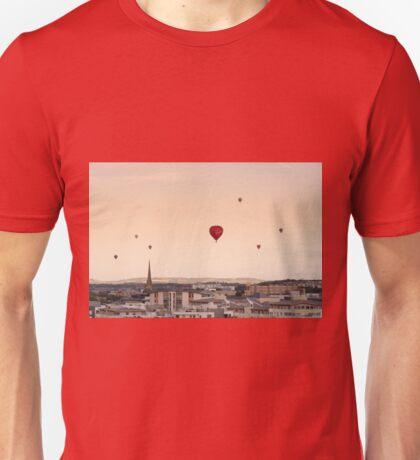 Balloons over Bristol at sunset Unisex T-Shirt