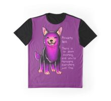 """Anxiety Lies"" Sparkle Pup Graphic T-Shirt"