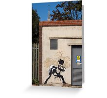 Office Rage by Banksy Greeting Card