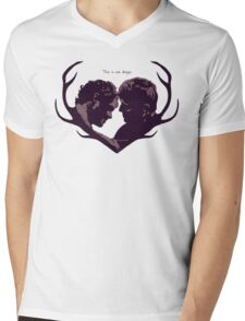 Murder Husbands Heart Design Mens V-Neck T-Shirt