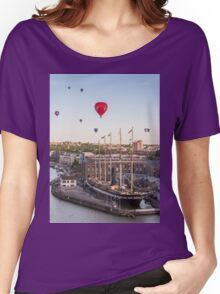Balloons over the SS Great Britain in Bristol Women's Relaxed Fit T-Shirt