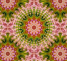 Hot Pink +Green Energy Mandala by webgrrl