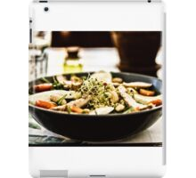 Fresh Salad With Mozzarella, Chicken, Tomatoes, Almonds And Onion Germs iPad Case/Skin