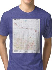 USGS TOPO Map Arizona AZ Luzena 312188 1996 24000 Tri-blend T-Shirt