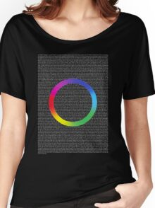 Coldplay - A Head Full Of Lyrics (White Text) Women's Relaxed Fit T-Shirt