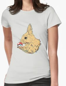 Squirrel ball Womens Fitted T-Shirt